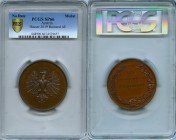"Innsbruck bronzed copper Specimen ""Agricultural Society of Tirol and Vorarlberg"" Medal ND (Late 19th Century) SP66 PCGS, Hauser-3619. 55mm. By N. Grub..."
