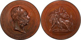 "Franz Joseph I bronze Specimen ""Honorary Prize of the Ministry of Commerce"" Medal ND (Late 19th Century) SP55 Brown PCGS, Hauser-2794. By Tautenhayn. ..."