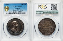 "Franz Joseph I silver Specimen ""Imperial Visit"" Medal 1901 SP62 PCGS, Hauser-759. 39mm. 12.90gm. Half-length bust right within laurel wreath. / IN PER..."