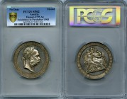 "Franz Joseph I silver Specimen ""Exhibition in Pardubice"" Medal 1903 SP62 PCGS, Hauser-2795. 57mm. 69.86gm. By J. Tautenhayn. Edge: Inscribed with lege..."