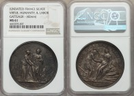 "Louis XVI silver ""Virtue, Humanity, and Labor"" Medal ND (c. 1775) MS61 NGC, Nocq 186 (Obverse). 42mm. 30.59gm. By Duvivier and Gatteaux. HIC PIETATIS ..."