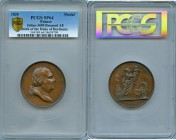 "Louis XVIII bronzed copper Specimen ""Birth of Duke of Bordeaux"" Medal 1820 SP64 PCGS, Julius-3695. 50mm. By Andrieu and Depaulis. Head right / Galia t..."