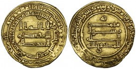 ABBASID, AL-MUKTAFI (289-295h) Dinar, Hims 292h Weight: 4.38g Reference: cf Bernardi 226Gd (date not listed) Pin-marks in fields, otherwise better tha...