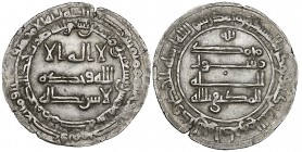 ABBASID, AL-MUKTAFI (289-295h) Dirham, Makka 295h Weight: 2.76g References: cf SICA 10, 492 [294h]; cf ICA 9, 12 October 2004, lot 3293 Has been clean...