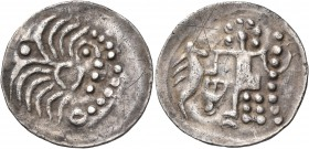 CELTIC, Lower Danube. Uncertain tribe, circa 1st Century BC. Drachm (Silver, 21 mm, 2.41 g, 12 h), struck in imitation of a drachm of Alexander. Decon...