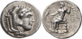 KINGS OF MACEDON. Alexander III 'the Great', 336-323 BC. Tetradrachm (Silver, 26 mm, 17.20 g, 12 h), Damascus, 330-320. Head of youthful Herakles to r...
