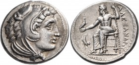 KINGS OF MACEDON. Alexander III 'the Great', 336-323 BC. Tetradrachm (Silver, 27 mm, 17.22 g, 7 h), Amphipolis. Head of youthful Herakles in lion's sk...