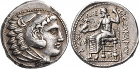 KINGS OF MACEDON. Alexander III 'the Great', 336-323 BC. Tetradrachm (Silver, 25 mm, 17.23 g, 1 h), Amphipolis, struck under Philip III, c. 320-317. H...