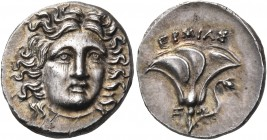KINGS OF MACEDON. Perseus, 179-168 BC. Drachm (Silver, 16 mm, 2.74 g), struck under the ministers Hermias and Zoilos during the Third Macedonian War, ...