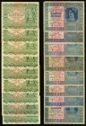 Austria Oesterreichisch-Ungarische Bank 1922 Group of 17 Very Fine-Choice Uncirculated.   HID09801242017