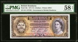 British Honduras Government of British Honduras 2 Dollars 1.1.1972 Pick 29c PMG Choice About Unc 58 EPQ.   HID09801242017