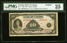 Canada Bank of Canada $10 1935 BC-7 PMG Very Fine 25.   HID09801242017