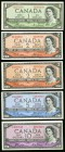 Canada Bank of Canada $1; $2; $5; $10 1954 BC-29a; BC-30b(2); BC-31b; BC-32a Very Fine-Almost Uncirculated.   HID09801242017