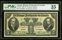 Canada Banque Provinciale du Canada $5 1928 Ch. # 615-14-08 PMG Very Fine 25.   HID09801242017