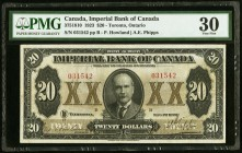 Canada Imperial Bank of Canada 20 Dollars 1.11.1923 Ch. # 375-18-10 PMG Very Fine 30.   HID09801242017