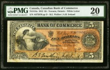 Canada Canadian Bank of Commerce $5 1.5.1912 Ch. # 75-14-14a PMG Very Fine 20.   HID09801242017