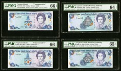 Cayman Islands Monetary Authority 1 Dollar 2003 (2); 2006 (2) Pick 30a; 30b; 33a; 33c Four Examples PMG Gem Uncirculated 66 EPQ (2); PMG Gem Uncircula...