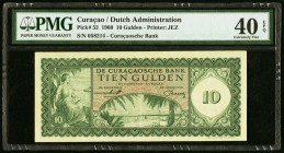 Curacao De Curacaosche Bank 10 Gulden 1960 Pick 52 PMG Extremely Fine 40 EPQ.   HID09801242017