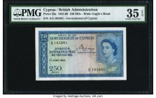 Cyprus Government of Cyprus 250 Mils 1.6.1955 Pick 33a PMG Choice Very Fine 35 EPQ.   HID09801242017