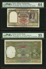 Burma Military Administration 10 Rupees ND (1945) Pick 28 Jhunjhunwalla-Razack 5.11B.1 PMG Choice Uncirculated 64. Burma Currency Board 100 Rupees ND ...