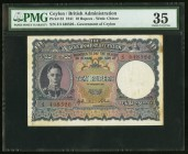 "Ceylon Government of Ceylon 10 Rupees 1.2.1941 Pick 33a PMG Choice Very Fine 35. A moderately circulated example of the 1941 ""promises to pay"" issue t..."