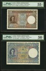 Ceylon Government of Ceylon 5 Rupees 20.12.1941 Pick 36 PMG About Uncirculated 55 EPQ; 10 Rupees 12.7.1944 Pick 36Aa PMG About Uncirculated 50 Net. A ...