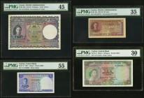 Ceylon Government of Ceylon 10 Rupees 4.8.1943 Pick 36A; 50 Cents 14.7.1942 Pick 45a; Central Bank of Ceylon 1 Rupee 20.1.1951 Pick 47; 10 Rupees 1.7....