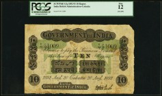 India Government of India 10 Rupees 20.8.1892 Pick A7g Jhunjhunwalla-Razack 2A.2.1 A.8 PCGS Fine 12. A Bombay place of issue is found on this early In...