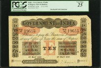 India Government of India 10 Rupees Bombay 27.5.1916 Pick A10b Jhunjhunwalla-Razack 2A.2.3 B.2 PCGS Very Fine 25. Despite the problems called out such...