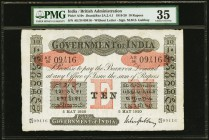 India Government of India 10 Rupees 5.5.1920 Pick A10v Jhunjhunwalla-Razack 2A.2.4.1 PMG Choice Very Fine 35. A bright, well printed example of this n...