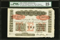 India Government of India 10 Rupees 13.6.1919 Pick A10v Jhunjhunwalla-Razack 2A.2.4.1 PMG Very Fine 25. A AD prefix 10 Rupee note that represents the ...