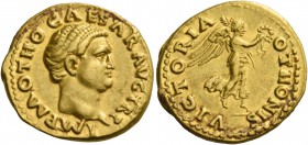 Otho, 15th January - April 69. Aureus 15th January -March 8th 69, AV 7.35 g. IMP M OTHO CAESAR AVG TR P Bare head r. Rev. VICTORIA OTHONIS Victory, dr...