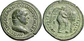 Vitellius, April –December 69. Sestertius 69, Æ 25.82 g. A VITELLIVS GERMAN IMP AVG TRP Laureate and draped bust r. Rev. VIC – TO – RIA – AVG / S – C ...