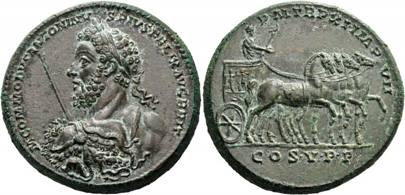 Commodus augustus, 177 – 192. Medallion 186, Æ 54.73 g. M COMMODVS ANTONINV – S ...