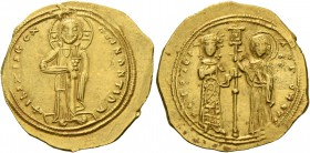 Theodora, 11 January 1055 – 31 August 1056. Histamenon 1055-1056, AV 4.35 g. +IhS XIS DCX RCGNΛNTIhm Christ, nimbate, standing facing on footstool, we...