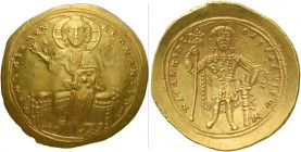 Isaac I Comnenus, 1 September 1057 – 22 November 1059. Histamenon 1057-1059, AV 4.43 g. +IhS XIS REX – RGNANTIhm Christ, nimbate, seated facing on bac...
