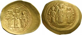 Romanus IV Diogenes, 1 January 1068 – September 1071 and associate rulers. Histamenon circa 1068-1071, AV 4.33 g. KωN – MX – ANΔ Three figures standin...
