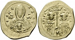 Romanus IV Diogenes, 1 January 1068 – September 1071 and associate rulers. Tetarteron 1071-1078, AV 4.04 g. +ΘKE – POHΘ Facing bust of the Virgin, vei...