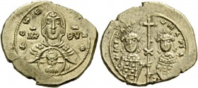 Romanus IV Diogenes, 1 January 1068 – September 1071 and associate rulers. Tetarteron 1071-1078, AV 4.02 g. +ΘKE – ROHΘ Facing bust of the Virgin, vei...