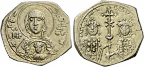 Romanus IV Diogenes, 1 January 1068 – September 1071 and associate rulers. Tetarteron 1071-1078, AV 3.88 g. +ΘKEPO – HΘEI+ Facing bust of the Virgin, ...