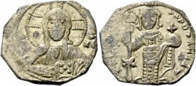Nicephorus III Botaniates, 3 April 1078-1 April 1081. Tetarteron 1078-1081, EL 3.15 g. Facing bust of Christ, nimbate, wearing pallium and colobium, h...