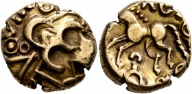 CELTIC, Northeast Gaul. Nervii. Circa 60-30/25 BC. Stater (Electrum, 16 mm, 5.67 g, 2 h), 'VIROS - dérivé du statère à l'epsilon' type. Devolved and d...