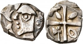CELTIC, Southern Gaul. Volcae-Tectosages. Mid 2nd-early 1st century BC. Drachm (Silver, 16 mm, 3.01 g), 'à la croix' type. Celticized male head to lef...