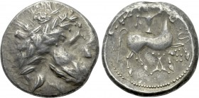 "EASTERN EUROPE. Imitations of Audoleon (2nd-1st centuries BC). Tetradrachm. ""Audoleonmonogramm"" type."