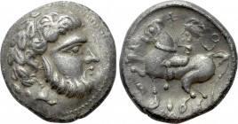 "EASTERN EUROPE. Imitations of Philip II of Macedon (2nd-1st centuries BC). Tetradrachm. ""Baumreiter"" type."
