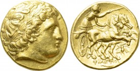 KINGS OF MACEDON. Philip II (359-336 BC). GOLD Stater. Magnesia on the Maeander.