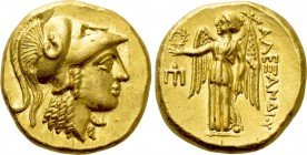 KINGS OF MACEDON. Alexander III 'the Great' (336-323 BC). GOLD Stater. Amphipolis.