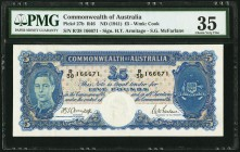 Australia Commonwealth of Australia 5 Pounds ND (1941) Pick 27b PMG Choice Very Fine 35.   HID09801242017