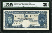Australia Commonwealth of Australia 5 Pounds ND (1953) Pick 27d PMG Very Fine 30 EPQ.   HID09801242017