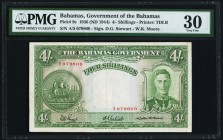 Bahamas Bahamas Government 4 Shillings 1936 (ND 1944) Pick 9c PMG Very Fine 30.   HID09801242017